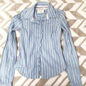 abercrombie kids Stripe Button Down Shirt